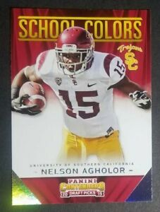 reputable site 80c43 cd43b Details about 2015 Contenders #35 Nelson Agholor USC TROJANS SCHOOL COLORS  football card NM/MT
