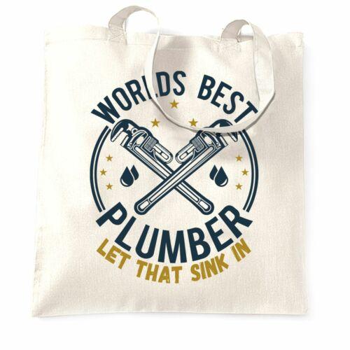 Details about  /World/'s Best Plumber Tote Bag Plumbing Job Boss Gift Idea