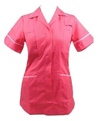 Alexandra HF561 Pink//Pink Ladies Nurses Care Assistant Uniform Tunic B4 XT5