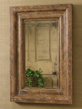 Rustic Farmhouse Distressed Wood Frame Mirror by Park Designs, 36x24 Inch