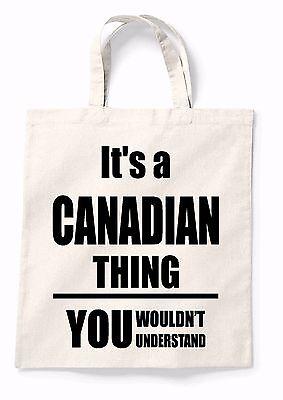 Energico La Sua Una Cosa Canadese Canvas Tote Shopping Bag Cotone Borsa Shopping Stampata Regalo-mostra Il Titolo Originale Lustro