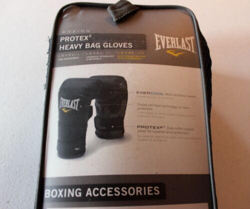 New Everlast Protex2 Heavy Bag Gloves Level I II III Cardio Boxing Model 4311LXL
