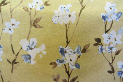 Alicia Honey Floral  Printed  Cotton  Curtain//Craft Fabric