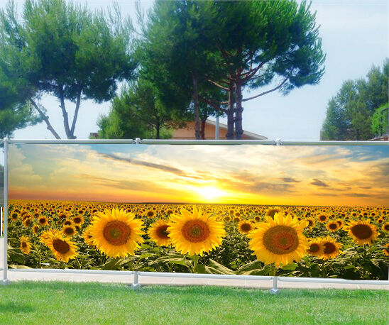 Paravento separé scenografia stampato   Girasoli 9154