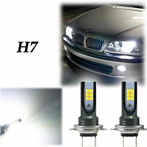 Details About 2x H7 Super Bright White Led Bulbs 6000k 80w Lamp For Bmw E46 Fog Light Drl