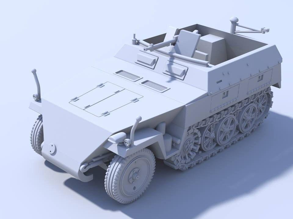 1 48 German SdKfz 250 1 Neu Resin By Blitzkrieg Miniatures WWII Bolt Action BNIB