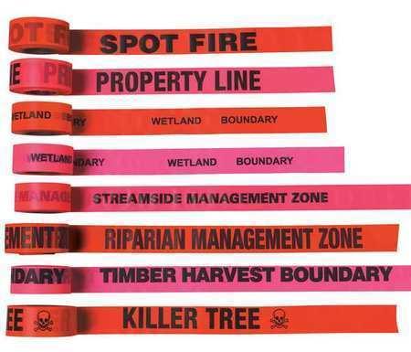 PRESCO PRODUCTS CO CUOGBK26-200 Flagging Tape,Orange Glo//Black,150 ft