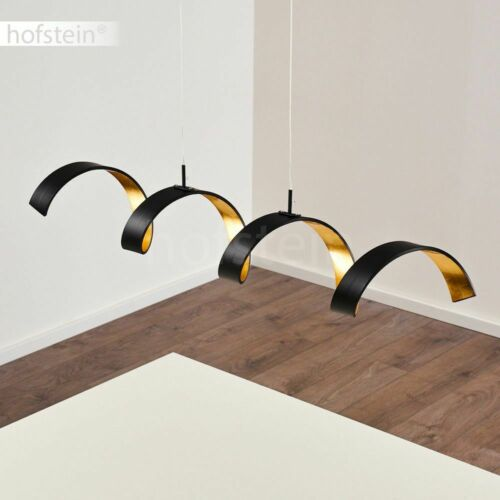dimmbare LED Hänge Pendel Lampen Ess Wohn Schlaf Zimmer Beleuchtung schwarz//gold