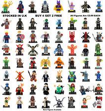 DC Marvel Minifigure Batman Justice League Lego & Custom Mini Figure All £2.69