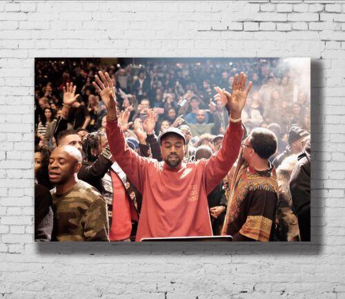 P-123 Art Kanye West American Rapper Hip Hop Singer Star Canvas Poster 24x36in
