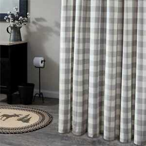 Image Is Loading WICKLOW Dove Shower Curtain Grey White Buffalo Check