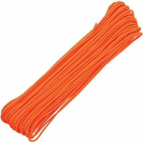 125kg Neon Orange 100ft Paracord 4 strand 275lbs RG1152 30m