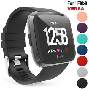 For-Fitbit-Versa-Silicone-Wrist-Strap-Wristband-Replacement-Accessory-Watch-Band