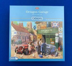 Gibsons-500-Piece-Puzzle-Octagon-Garage-by-Kevin-Walsh-100-Complete
