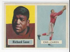 Richard-Nightrain-Lane-1957-Topps-Rookie-Football-Card-85-HOF-EX
