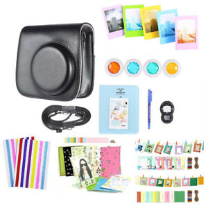 10 in 1 Set Instant Film Camera Accessories for Fujifilm Mini 8/9 Bag Black Xmas