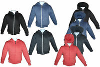 Childrens Kids Full Zipped Plain Hoodies Hooded Sweat Top 4 Colours Age 2-14