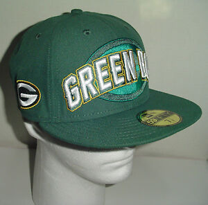 fe5248ebd NEW ERA Green Bay Packers 59 Fifty NFL Official Hat Cap Fitted Draft ...
