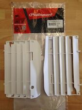 HONDA CRF 250 R CRF250 R 2010-2013 POLISPORT RADIATOR LOUVRES RAD GUARDS WHITE