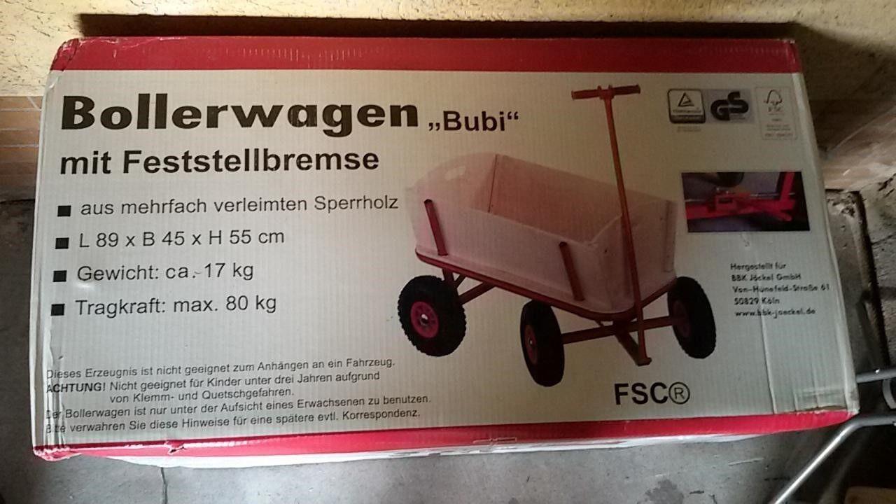 Bollerwagen der Marke   Bubi  Neuware