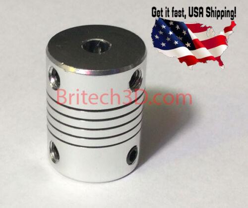 Aluminum Flexible Shaft Coupler 5mmx8mm For CNC Reprap Prusa I3 3D printer etc