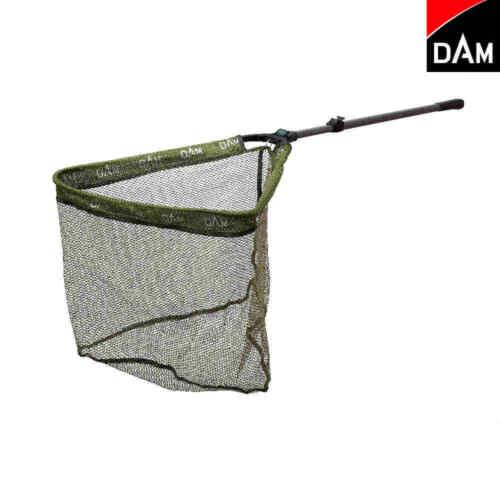 DAM Crosspower Landing Net 310cm 3tlg gummiertes Netz 60x60cm Kescherkopf