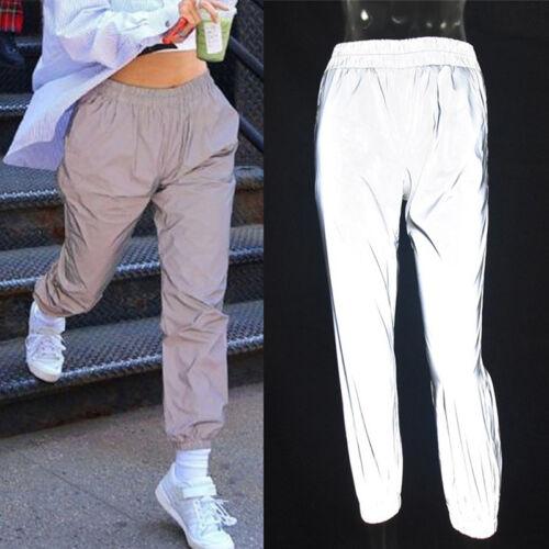 Fashion Flash Reflective Jogger Pants Women Casual Zpolid Harem Trousers PanRSFD