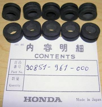 Honda 10-pack of rubber wire cable protection grommets 18293-KBN-900 V *