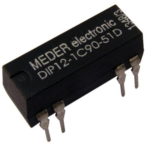 Meder relè dip12-1c90-51d 12v 1xum 500 Ohm DIP Reed Relay con diodo 047173
