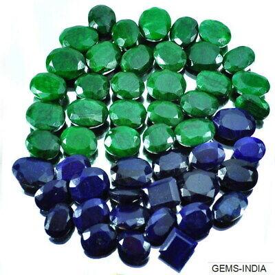 Ruby /& Emerald Gemstone Lot 100 Carat//12 Pcs Natural Mixed Shape Blue Sapphire