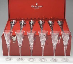 Waterford Crystal Twelve 12 Days Of Christmas Flutes ...