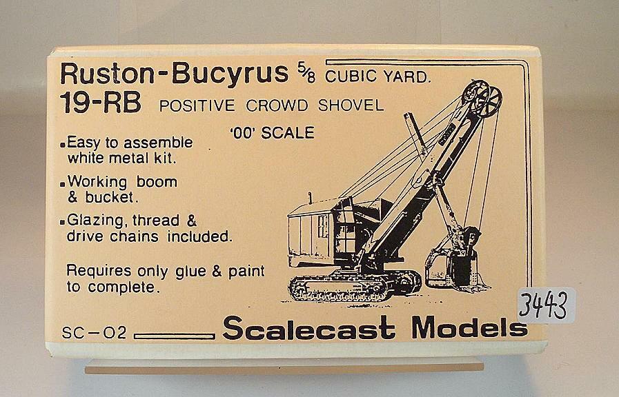Scalecast Modells 1 76 Metal Kit SC Ruston Bucyrus 19RB Dragline Crane OVP  3443