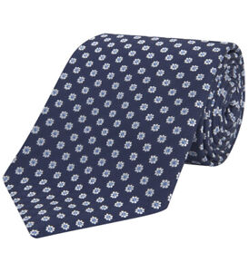 Turnbull-amp-Asser-Floral-Navy-And-White-Jacquard-Silk-Tie-8-cm