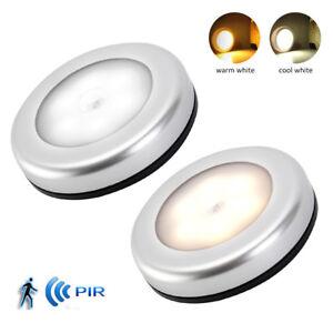 3X Nachtlicht mit Bewegungsmelder Sensor Nachtleuchte Lampe Batterie 6 LED DE