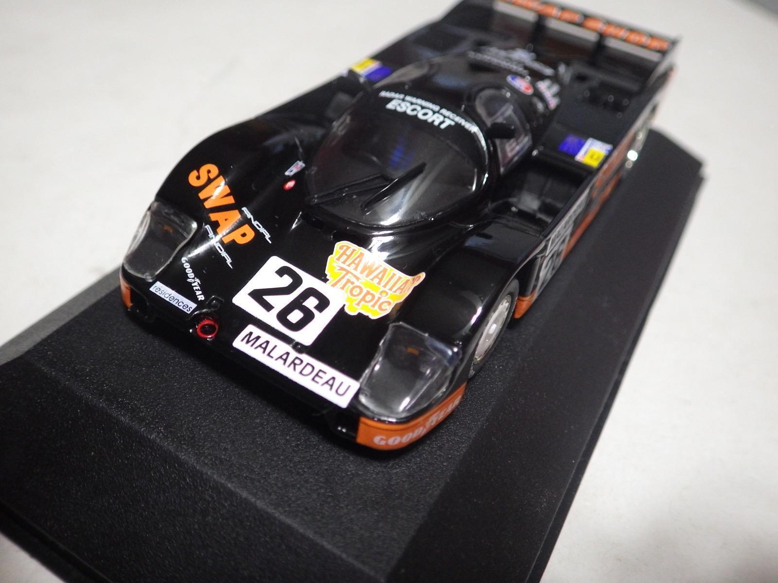 QUARTZO modèles classiques noir Porsche 956 Mignon SWAP SHOP le mans 84 1 43 Neuf dans sa boîte