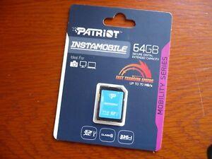 PATRIOT-INSTAMOBILE-64GB-SDXC-SD-XC-CLASS-10-for-SONY-ALPHA-a6000-ILCE-6000