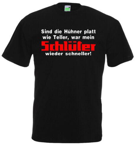 Schlüter T-ShirtSind die Hühner platt wie TellerTraktorBauer   285-0