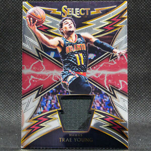 2018-19-Trae-Young-Sparks-Select-Jersey-Patch-Rookie-RC-Panini-SP-Atlanta-Hawks