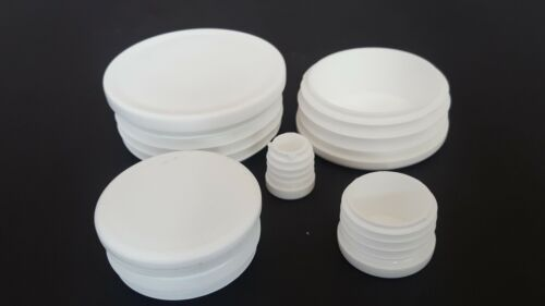 Round Plastic White Blanking End Cap Caps Tube Pipe Inserts Plug Bung