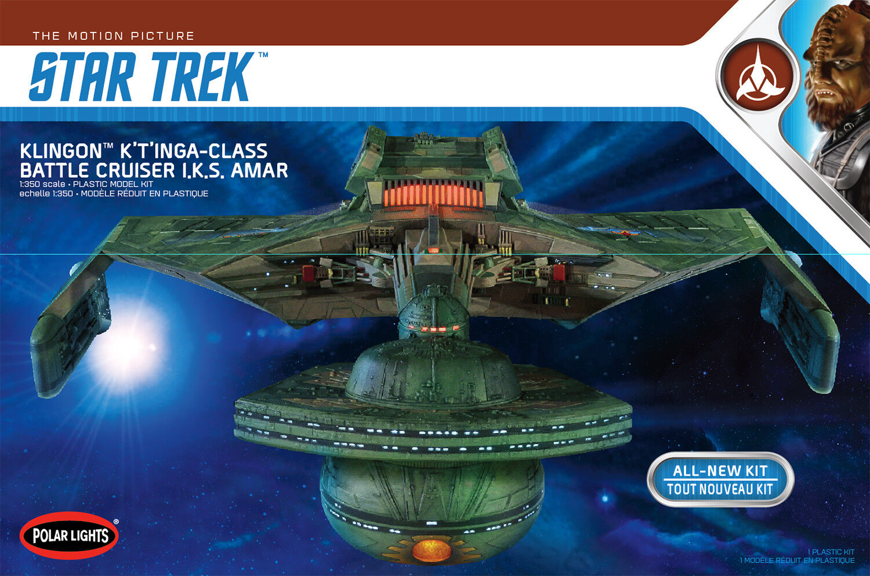 1 350 Polar Lights Star Trek Klingonisch K 'T Inga Klasse battlekreuzer Pol950