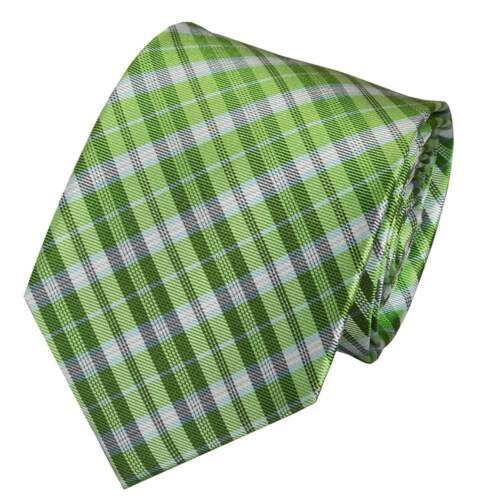 Handmade Green Tartan Cravate en soie et Mouchoir Set Regular Cravate Et Mouchoir
