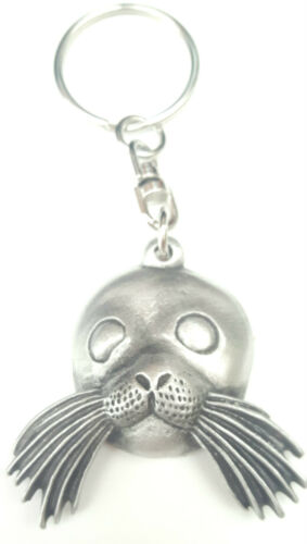 Gift Bag Sealion Handcrafted From English Pewter Key Ring