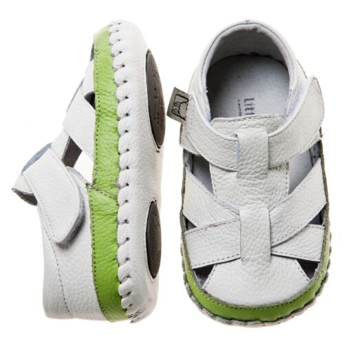 Baby Girl/'s//Boy/'s Toddler Child/'s White /& Green Soft Real Leather Cruiser Shoes