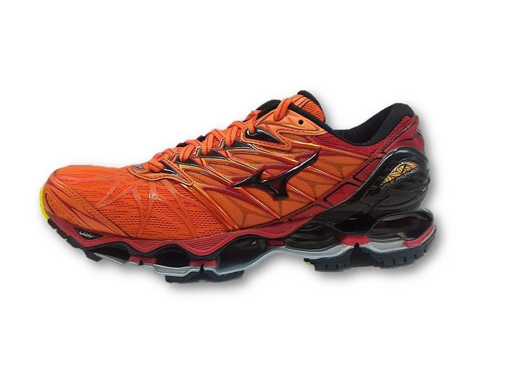 Mizuno Wave Prophecy 7 Men Running Shoes J1GC180009 Orange Black Red New 18U