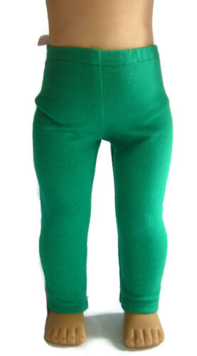 """For 18/"""" American Girl Doll Clothes St Patrick/'s Day Green Knit Leggings"""
