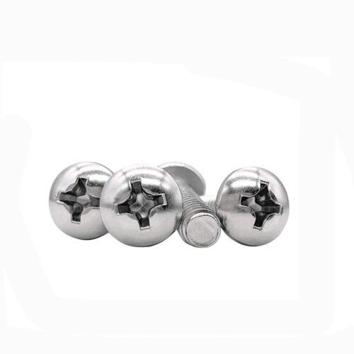 2#-56 4#-40 6#-32 UNC 304 SS Round Head Screw PAN head screws