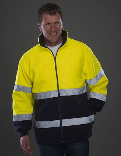 YOKO YK10B Hochsichtbare Warnschutz Jacke Fleecejacke Arbeitsjacke Straßenbau