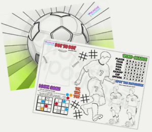 Pack-of-12-A4-Soccer-Party-Placemat-Tabletop-Activity-Sheets-Bag-Fillers