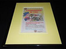 1985 Bachmann Powerhouse Train Set 11x14 Framed ORIGINAL Vintage Advertisement