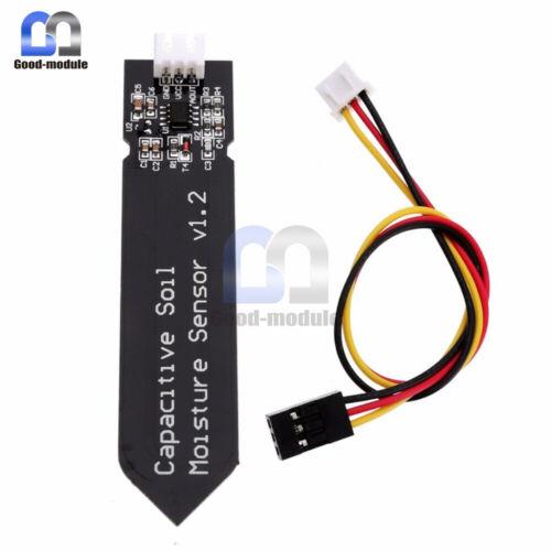 10PCS Capacitive Soil Moisture Sensor Analog Resistant V1.2 Conncector Cable #